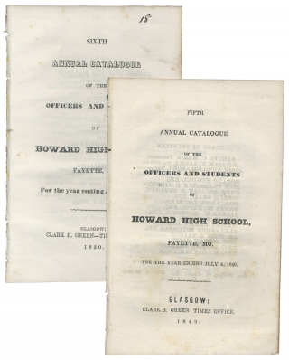 [Fayette, Missouri, 4 Titles:] Annual Catalogue of the Officers and Students of Howard High School, Fayette, Mo. ...