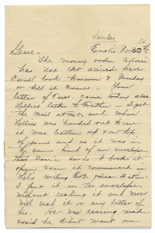 "Four 1884 Florida Letters on Homesteading, Business Opportunities, Oranges, etc. ""Albert""."