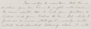 """The Eight Hour Movement,"" an Address by Wendell Phillips, Tremont Temple. Dec 21, 1865 [manuscript caption title]."