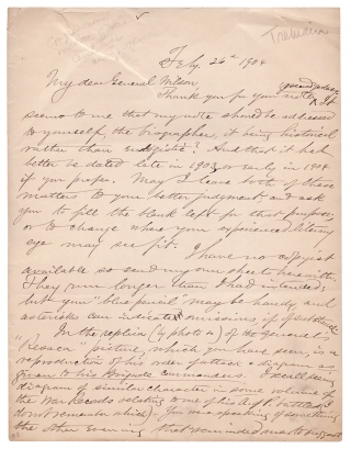 [1904 Autograph Letter Signed by Henry E. Tremain, Georgian Civil War Medal of Honor Recipient for Battle of Resaca, Georgia]. Henry E. Tremain.