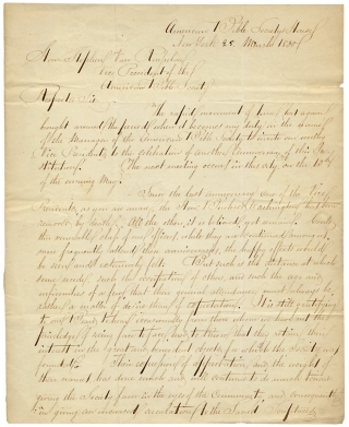 1830 Autograph Letter Signed by Reverend J.C. Brigham to Stephen Van Rensselaer, American Bible Society President. Reverend J. C. Brigham.