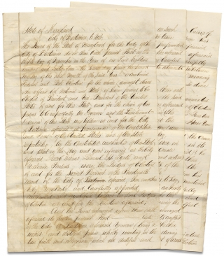 1864–1865 Civil War Manuscript Draft Document concerning the U.S. Presidential Election of 1864 and a Disloyal, Confederate Sympathizer in Maryland. Unk.