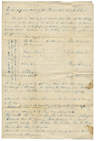Manuscript Resolutions to Organize a Fourth of July Procession ca. 1843, in Columbia County,...