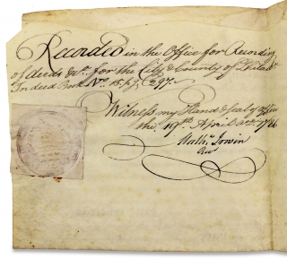 [1743 Land Indenture Signed by Anthony Morris, Brewer and Mayor of Philadelphia].