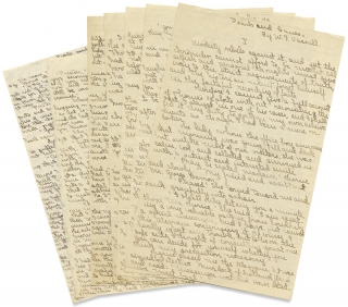 "[Manuscript of William F. Vassall's 1916 New York City Mystery ""Pearls and Canes,"" published in Detective Story Magazine]."