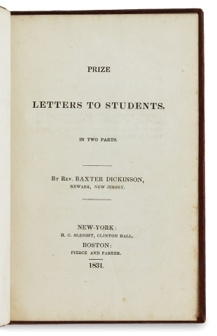 Prize Letters to Students in Two Parts.