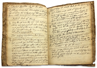18th Century Hudson Valley, New York Medical Formulary Manuscript Notebook Kept by Dr. James...