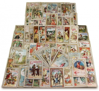 Collection of Seventy-Two c.1900 Spanish Children's Chromo Chapbooks, many with a New York Imprint. Mrs. John Cuadrado.