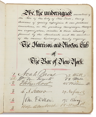 Harrison & Morton Club of the Bar of New York. [cover title]