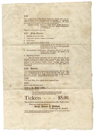First Annual Gymkhana of the Veterans and Actives of the Ninth Company Seventh Regiment, N.G.N.Y. Saturday, September 14th 1907.