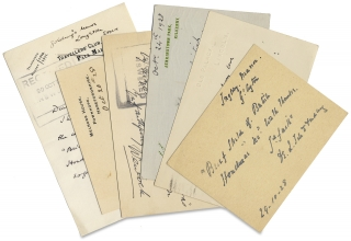 [ALsS and Autographed Postcards to Sir Algernon Edward Aspinall, Secretary of the West India Committee, regarding a Brief sketch of British Honduras, Past, Present and Future authored by British Honduras Colony Governor, Major Sir John Burdon.]