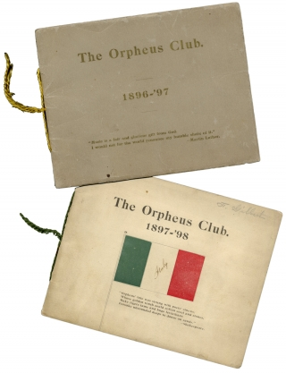 [Georgia - Women's Clubs - Music:] The Orpheus Club [Six Programs].