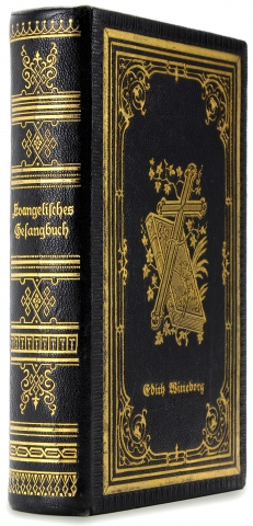 Elaborate Binding Owned by Edith Witteborg] Evangelisches Gesangbuch. Louis E. Nollau, German...