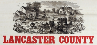 Farmers, Look to Your Own Interest by Insuring Your Tobacco in the Lancaster County Mutual Hail Insurance Company… [caption title]. Lancaster County Mutual Hail Insurance Company.