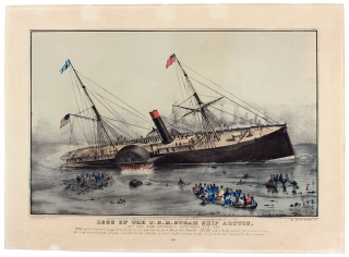 Loss of the U.S.M. Steam Ship Arctic, Off Cape Race Wednesday September 27, 1854…. N. Currier.