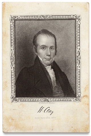 Henry Clay Souvenir Card Engraved by Nathaniel Dearborn]. N. Dearborn, 1786–1852,...