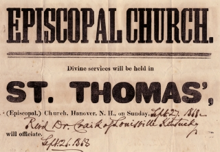 Episcopal Church. Divine services will be held in St. Thomas', (Episcopal,) Church, Hanover...