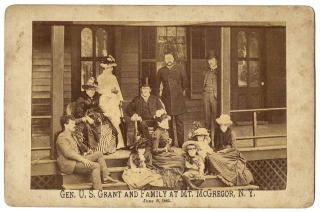 Gen. U.S. Grant and Family at Mt. McGregor, [Saratoga Springs] N.Y. June 19, 1885 [Cabinet Photograph]. Ulysses S. Grant.