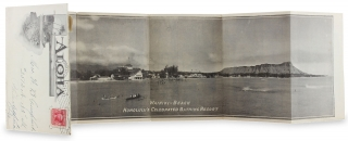 Aloha Hawaii. [Hawaii Postal Envelope with Panoramic and Other Views from Photographs]. Hawaii Promotion Committee.