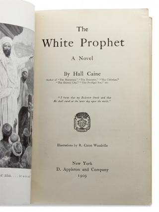 The White Prophet. [Advance Copy for First American Edition]
