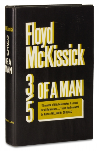 Three-Fifths of a Man. [First Edition, Inscribed and Signed]. Floyd McKissick
