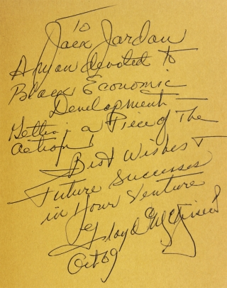 Three-Fifths of a Man. [First Edition, Inscribed and Signed]