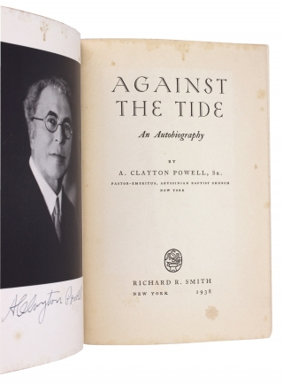Against the Tide. [Inscribed by Olivia P. Stokes, Civil Rights Activist and African-American Baptist Minister]