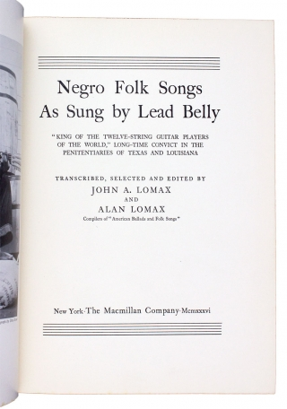 Negro Folk Songs as Sung by Lead Belly.