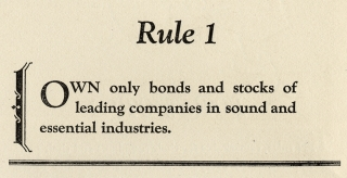 10 Rules for Investors [cover title]. A. Vere Shaw, 1887–1970, Barron's.