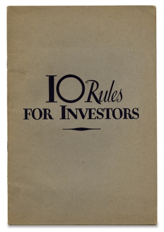 10 Rules for Investors [cover title].