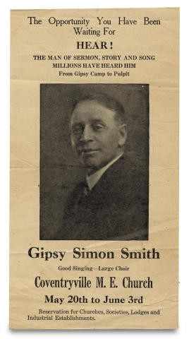 The Opportunity You Have Been Waiting For ... From Gipsy Camp to Pulpit ... Gipsy Simon Smith [opening lines of broadside]