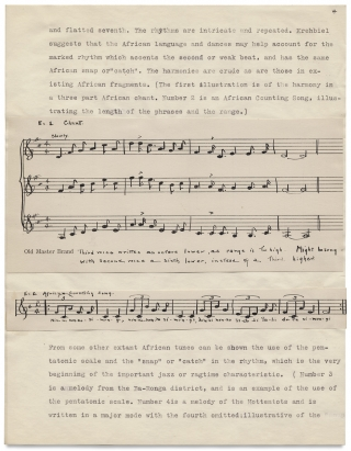 """""""The Folk Songs of Our Southern Negro."""" [College Term Paper]"""