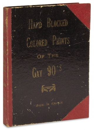 Hand Blocked Colored Prints of the Gay 90's. [Boxed cocktail napkin set]