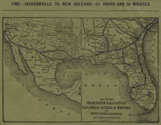 Official Pocket Time Table of the Savannah, Florida and Western Railway. Showing Arrangement of Passenger Trains. [With Map]