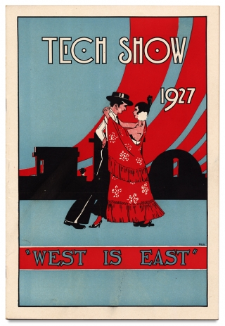 "[M.I.T., Cross-Dressing:] Tech Show 1927 ""West is East."". Philip K. Bates, G. Elbern Hopkins."