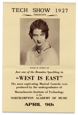 "[M.I.T., Cross-Dressing:] Tech Show 1927 ""West is East."""