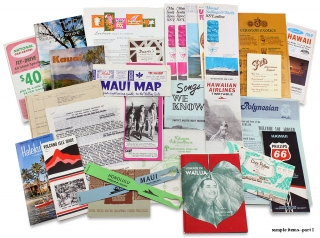 1969 Hawaii Vacation Trip Archive of Seventy Items