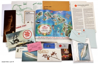 [1969 Hawaii Vacation Trip Archive of Seventy Items].