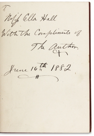 Those American R's. Rule, Ruin, Restoration. [Inscribed Copy]