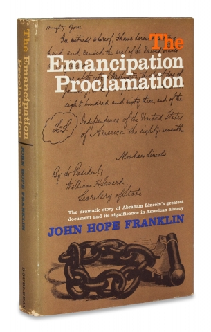 The Emancipation Proclamation. [Inscribed by Author]. John Hope Franklin, 1915–2009.