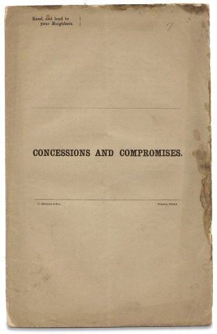 Concessions and Compromises. Joshua Francis Fisher, 1807–1873
