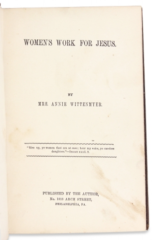 Women's work for Jesus. [First Edition]