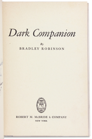 Dark Companion. [Signed by African American Arctic Explorer Matthew Henson and the Author]