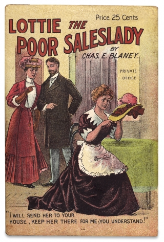 Lottie, the Poor Sales-Lady; or, Death before Dishonor. A Novel Founded Upon the Great Play of the Same Name. [within:] Play Book Series. Charles E. Blaney, 1866–1944.