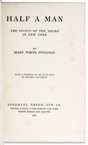 Half a Man. The Status of the Negro in New York.