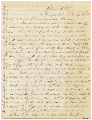 1862 Civil War Letter by Major Ebenezer Baldwin Andrews, 36th Ohio Infantry, with Battle Content...