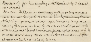 """[Sixteen Letters, 1865 to 1886, Incoming to Captain Daniel Tracy (1815-1888), """"The Seaman's Friend""""]."""