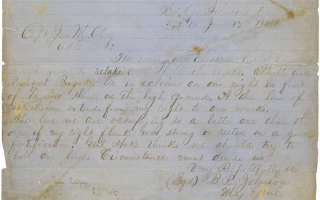 Retained Confederate Civil War MS. with Copies of a Report and Orders by Major General Bushrod...
