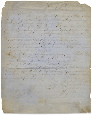 [Retained Confederate Civil War MS. with Copies of a Report and Orders by Major General Bushrod Rust Johnson during the Second Battle of Petersburg.]