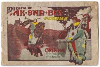 [Mardi Gras-like Parade Floats:] Knights of Ak-Sar-Ben, The Drama, Omaha, September 29 to October 9. [cover title]
